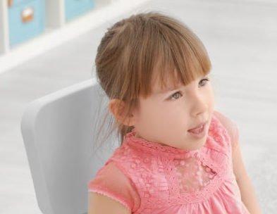 Cute little girl at speech therapist office
